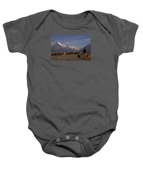 New Zealand Mt Cook Baby Onesie