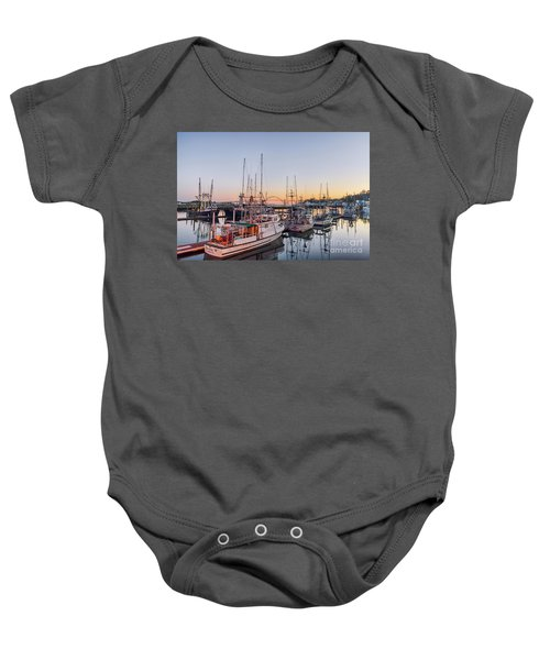 Newport Harbor At Dusk Baby Onesie