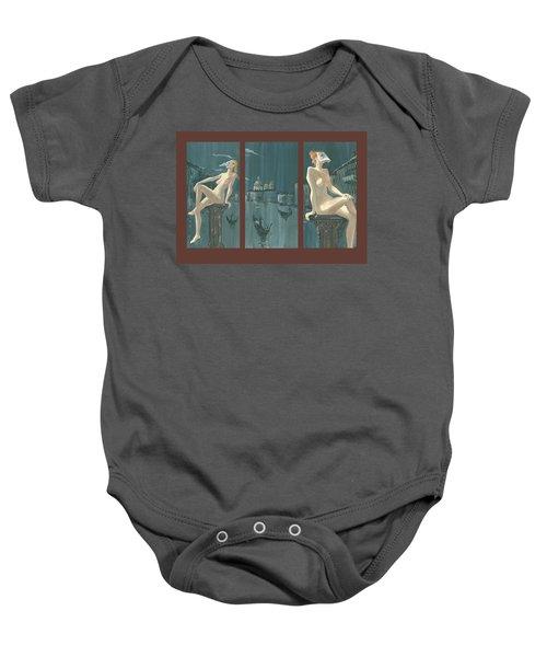 Night In Venice. Triptych Baby Onesie