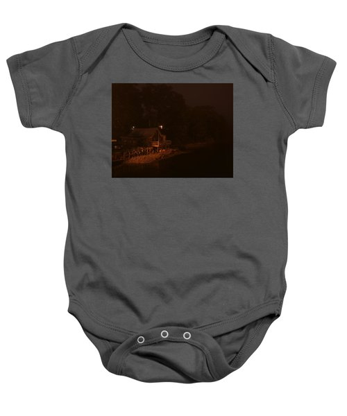 Night On The River Baby Onesie