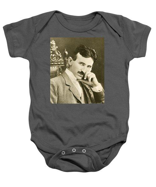 Nikola Tesla, Serbian-american Inventor Baby Onesie