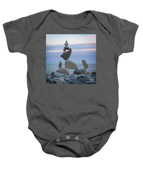 Zen Stack #7 Baby Onesie