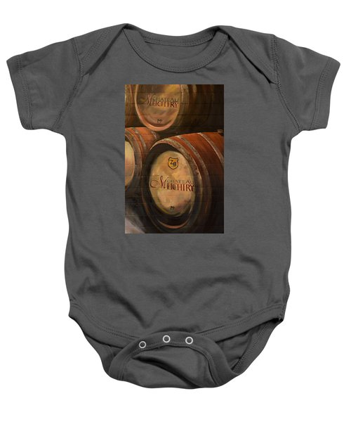 No Wine Before It's Time - Barrels-chateau Meichtry Baby Onesie