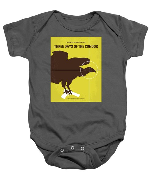 No659 My Three Days Of The Condor Minimal Movie Poster Baby Onesie