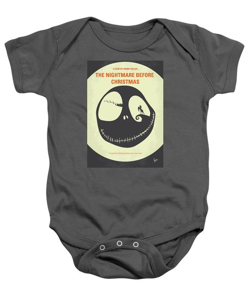 no712 my the nightmare before christmas minimal movie poster baby onesie
