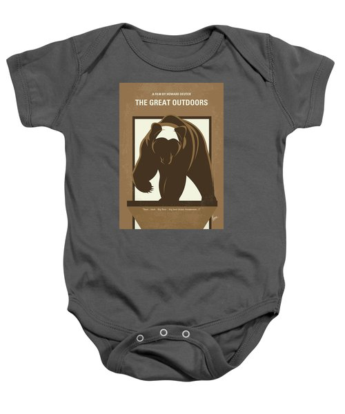 No824 My The Great Outdoors Minimal Movie Poster Baby Onesie