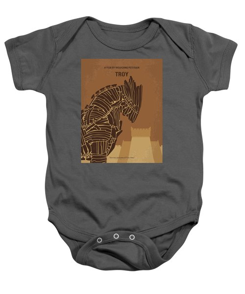 No862 My Troy Minimal Movie Poster Baby Onesie