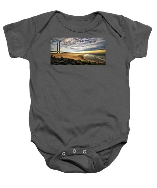 North Beach At Indian River Inlet Baby Onesie