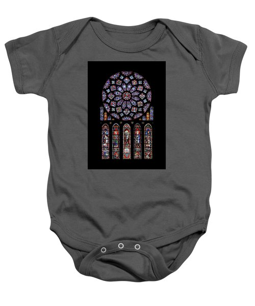 North Rose Window Of Chartres Cathedral Baby Onesie