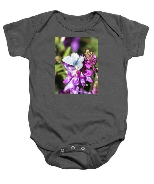 Northern Blue Butterfly Baby Onesie