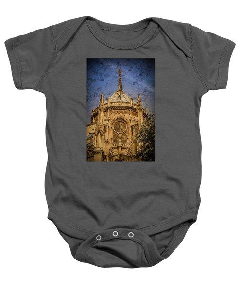 Paris, France - Notre-dame De Paris - Apse Baby Onesie