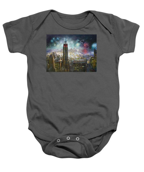 Nyc. Empire State Building Baby Onesie by Ylli Haruni