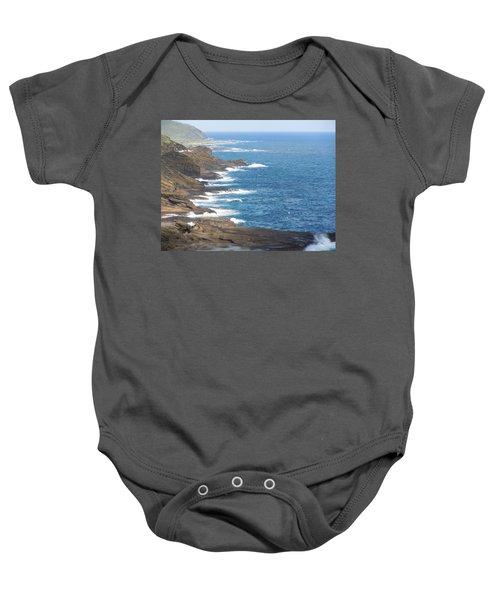 Oahu Coastline Baby Onesie
