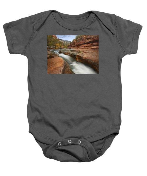 Oak Creek In Slide Rock State Park Baby Onesie