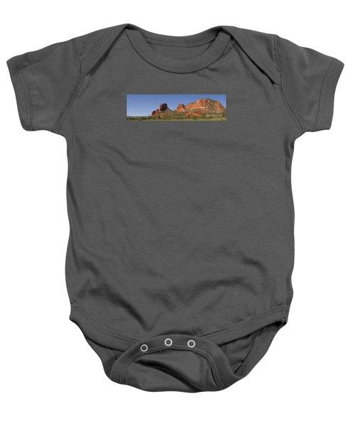 Oak Creek Panorama In Red Baby Onesie