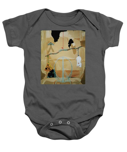 Objects Of Opposite Fit Baby Onesie