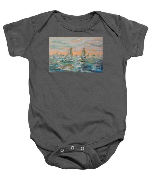 Ocean Regatta Baby Onesie