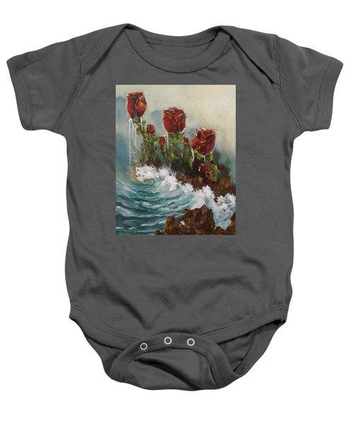 Ocean Rose Baby Onesie
