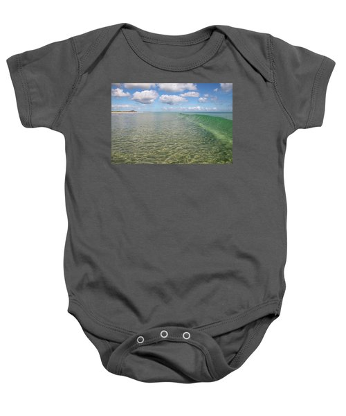 Ocean Waves And Clouds Rollin' By Baby Onesie