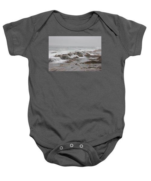 Ocean Waves Over Rocks Baby Onesie