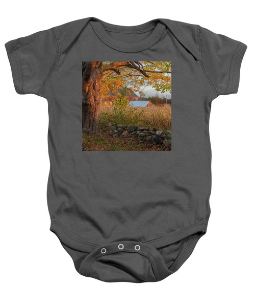 Baby Onesie featuring the photograph October Morning 2016 Square by Bill Wakeley