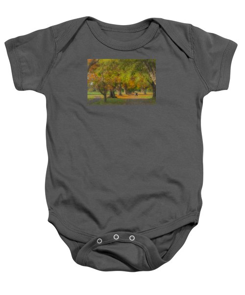 October Morning At Easton Country Club Baby Onesie