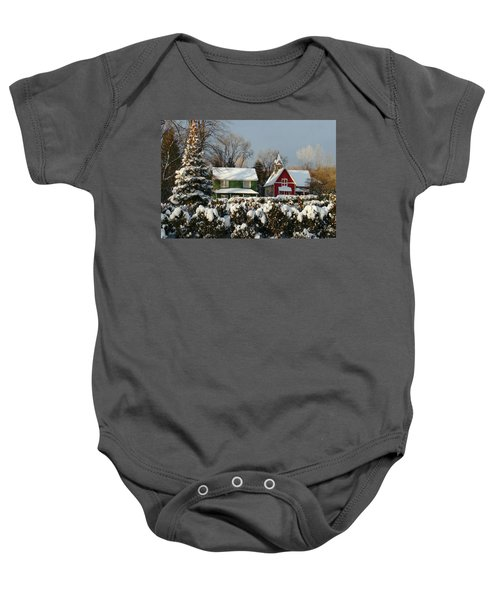 October Snow Baby Onesie