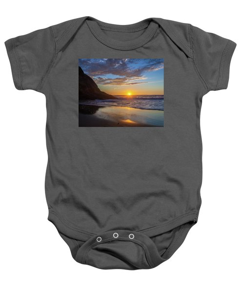 October Sunset Strands Beach Baby Onesie