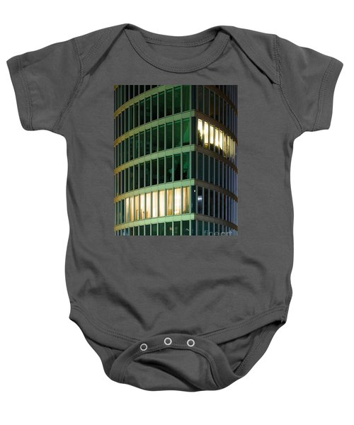Office Building At Night Baby Onesie