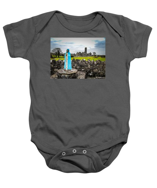Official Greeter At Ireland's Quin Abbey National Monument Baby Onesie