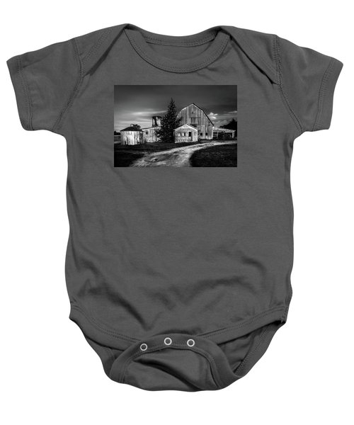 Ohio Barn At Sunrise Baby Onesie