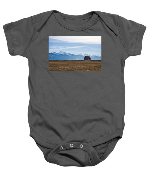 Old Barn, Mission Mountains Baby Onesie