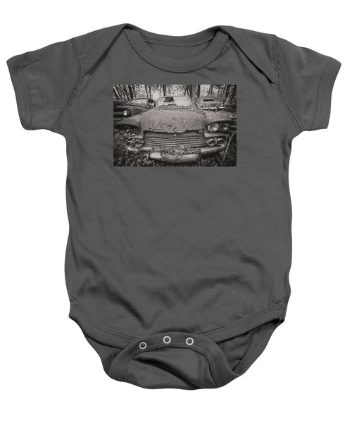 Old Car City In Black And White Baby Onesie