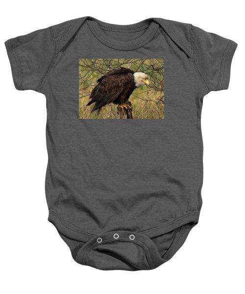 Old Eagle Baby Onesie