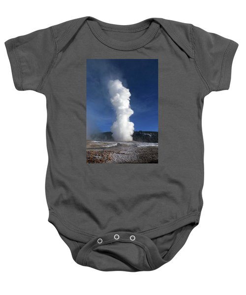 Old Faithful In Winter 2 Baby Onesie