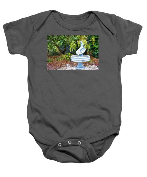 Old Fountain Baby Onesie