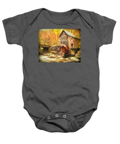 Old Grist Mill Baby Onesie