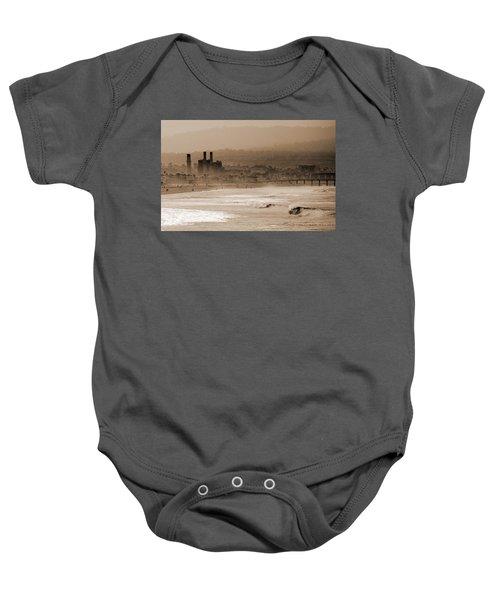 Old Hermosa Beach Baby Onesie