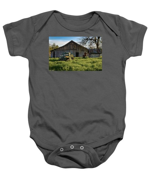 Old Jeep, Old Barn Baby Onesie