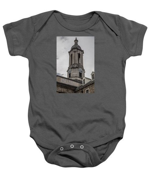 Old Main Penn State Clock  Baby Onesie by John McGraw