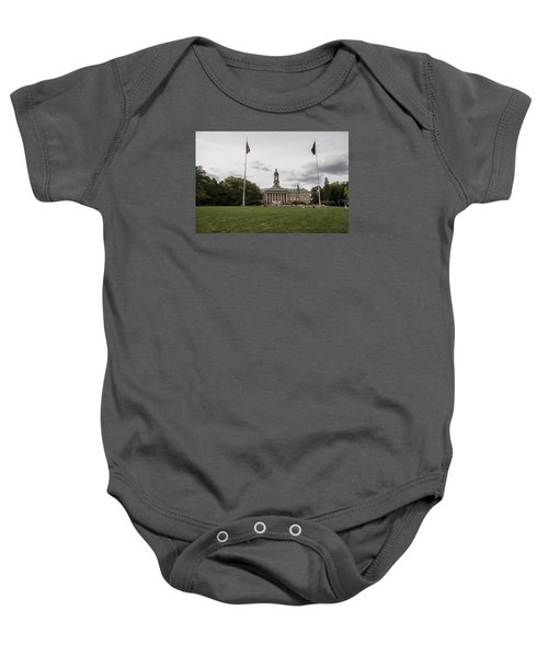 Old Main Penn State Wide Shot  Baby Onesie by John McGraw