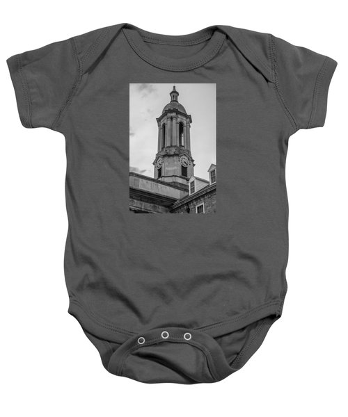 Old Main Tower Penn State Baby Onesie by John McGraw