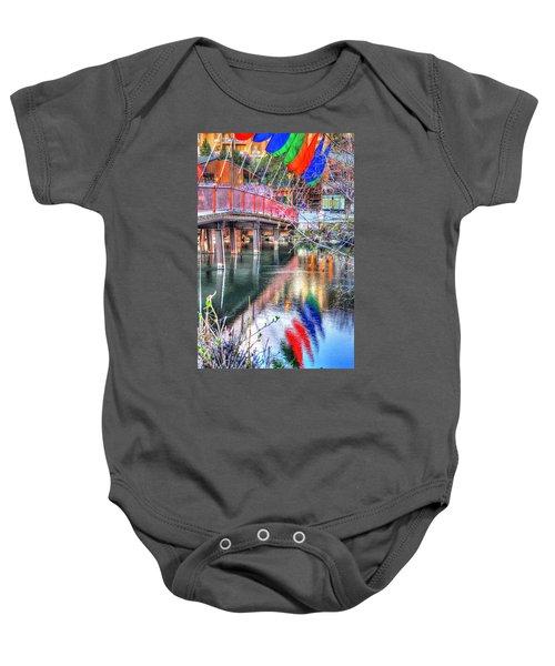 Old Mill Foot Bridge 481 Baby Onesie