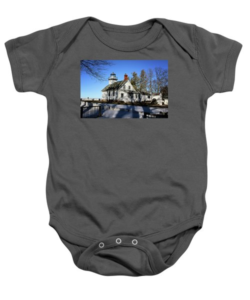 Old Mission Lighthouse Baby Onesie