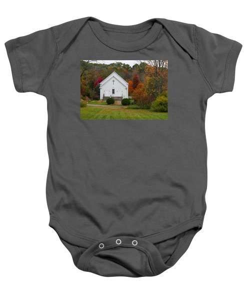 Old New England Church Baby Onesie