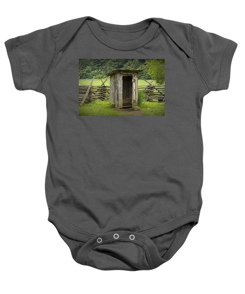 Old Outhouse On A Farm In The Smokey Mountains Baby Onesie