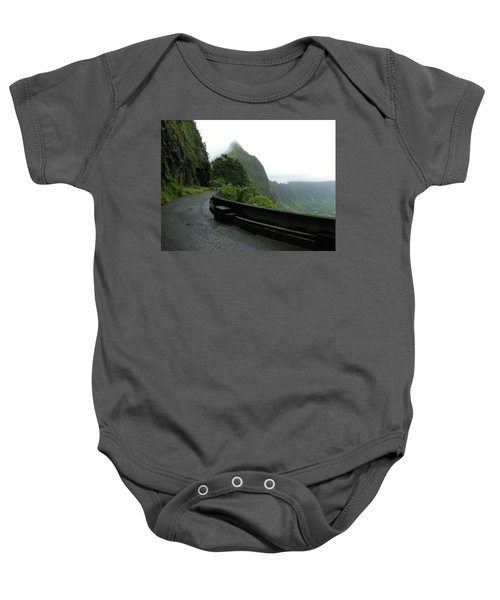 Baby Onesie featuring the photograph Old Pali Road, Oahu, Hawaii by Mark Czerniec