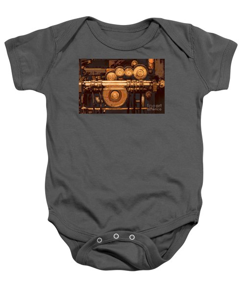 Old Printing Press Baby Onesie