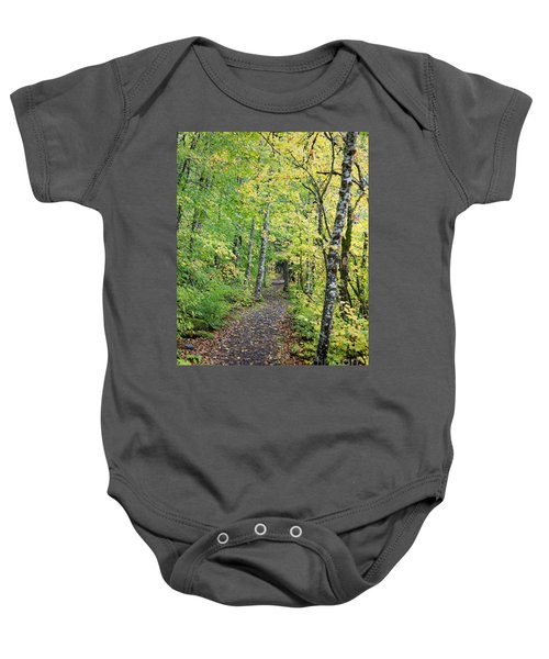 Baby Onesie featuring the photograph Old Rr Right-away by Peter Simmons