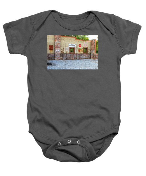 Old Saloon Wall Baby Onesie